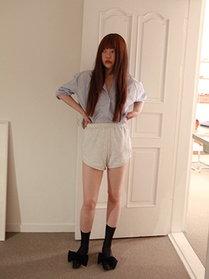 (freckle made♥)casual lining shorts(white marl!)